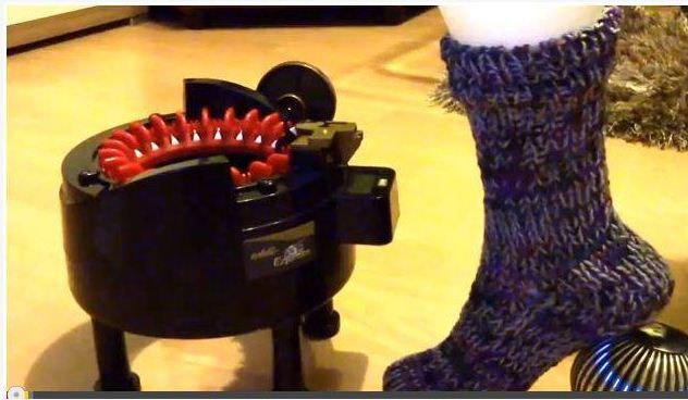 Making a Sock and turning the heel on the Addi Express ...