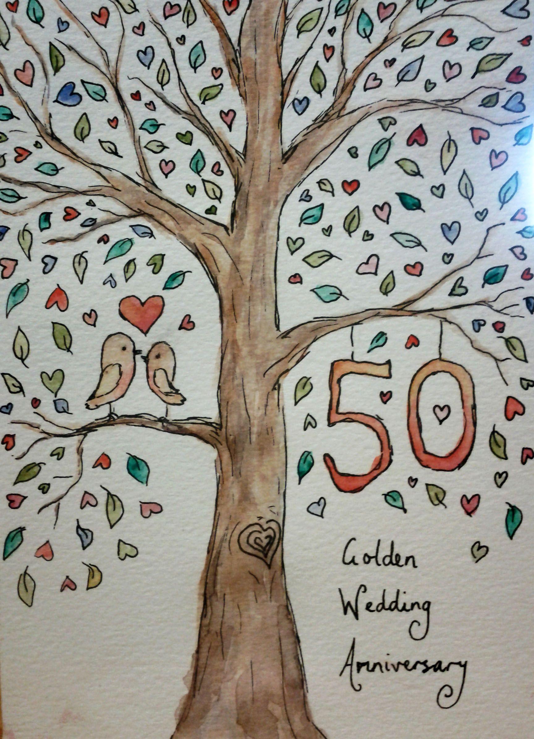 50th Anniversary Cards 50th Wedding Anniversary Anniversary Cards