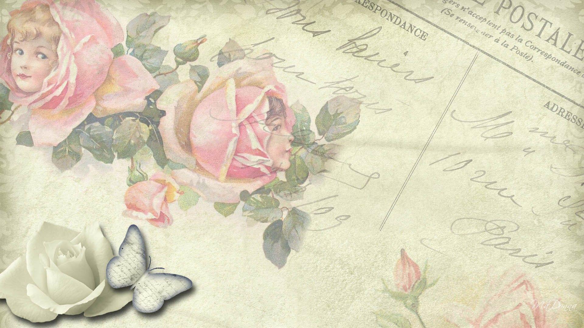 Fondo De Flores Vintage: Fondos De Pantalla Flores Vintage En Hd Gratis Para