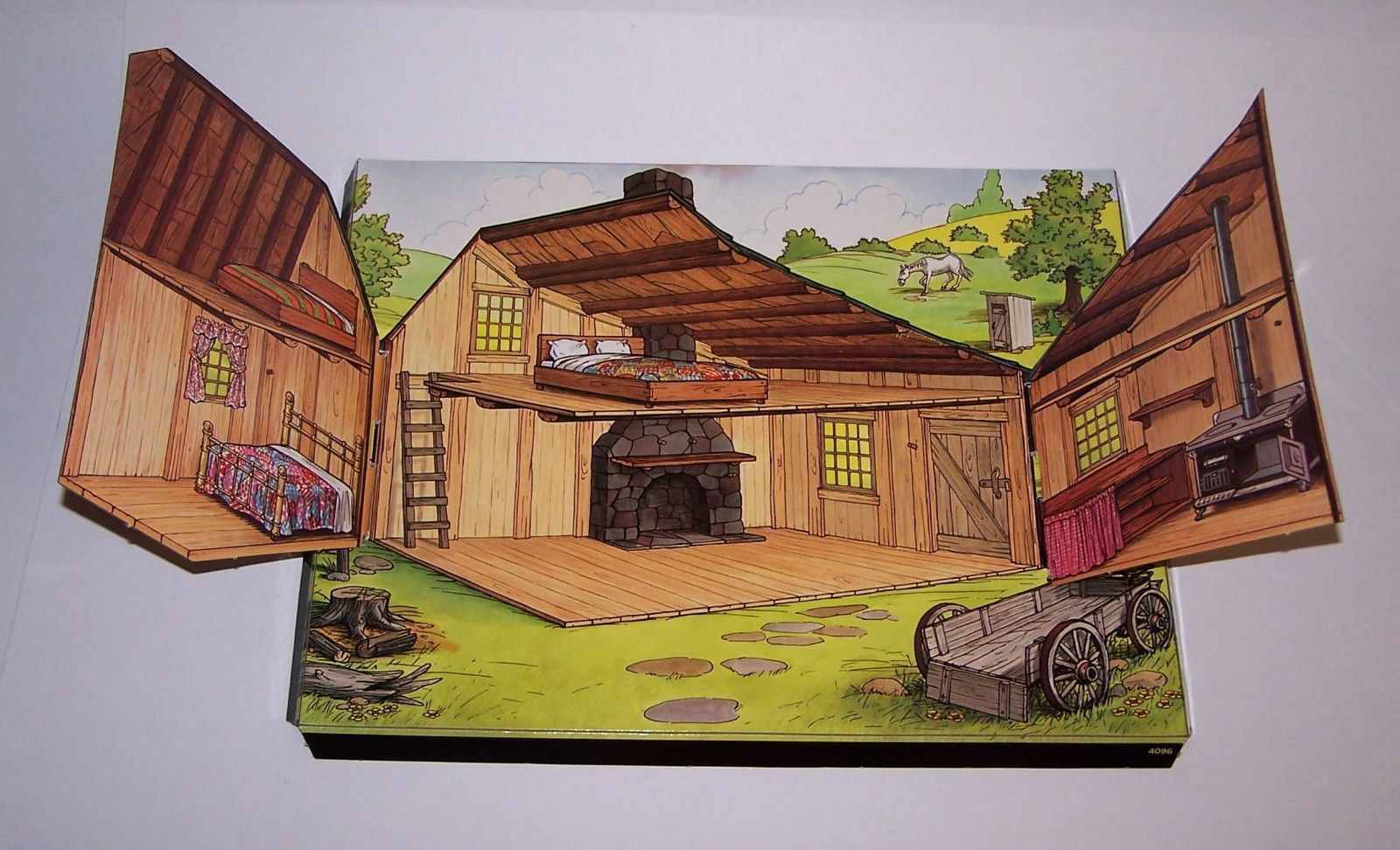 Vintage Little House On The Prairie Colorforms Play Set