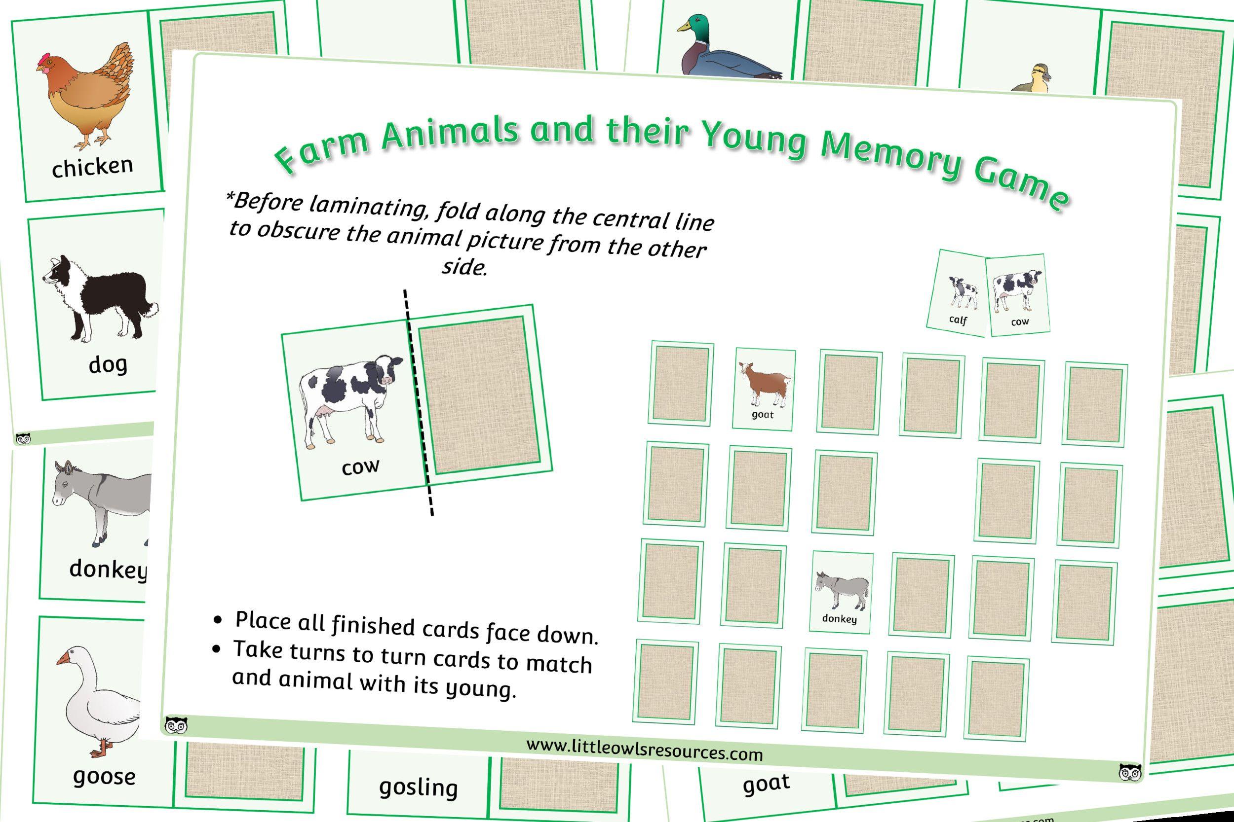 6 Farm Animals Preschool Social Emotional In