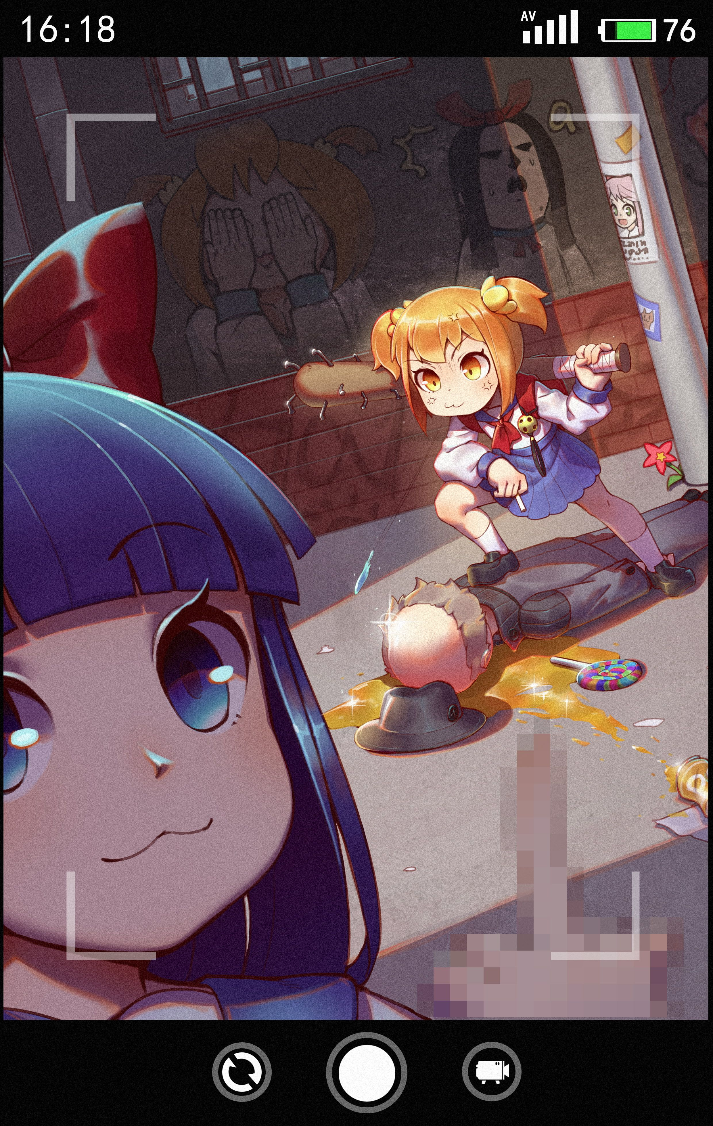 Poputepipikku Pipimi Popuko Anime Girls 4k Wallpaper Hdwallpaper Desktop In 2020 Anime Art Anime Anime Funny