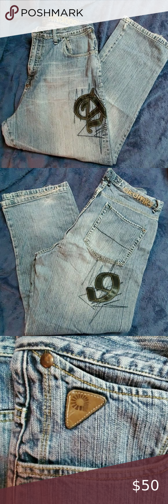 vintage akademiks Jeans excellent    Used condition, 100% cotton Akademiks Jeans Relaxed