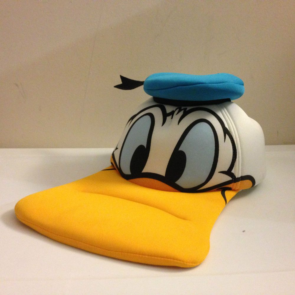 Donald Duck Hat Disney Parks World Disneyland Baseball Cap Novelty Souvenir a92db101c133