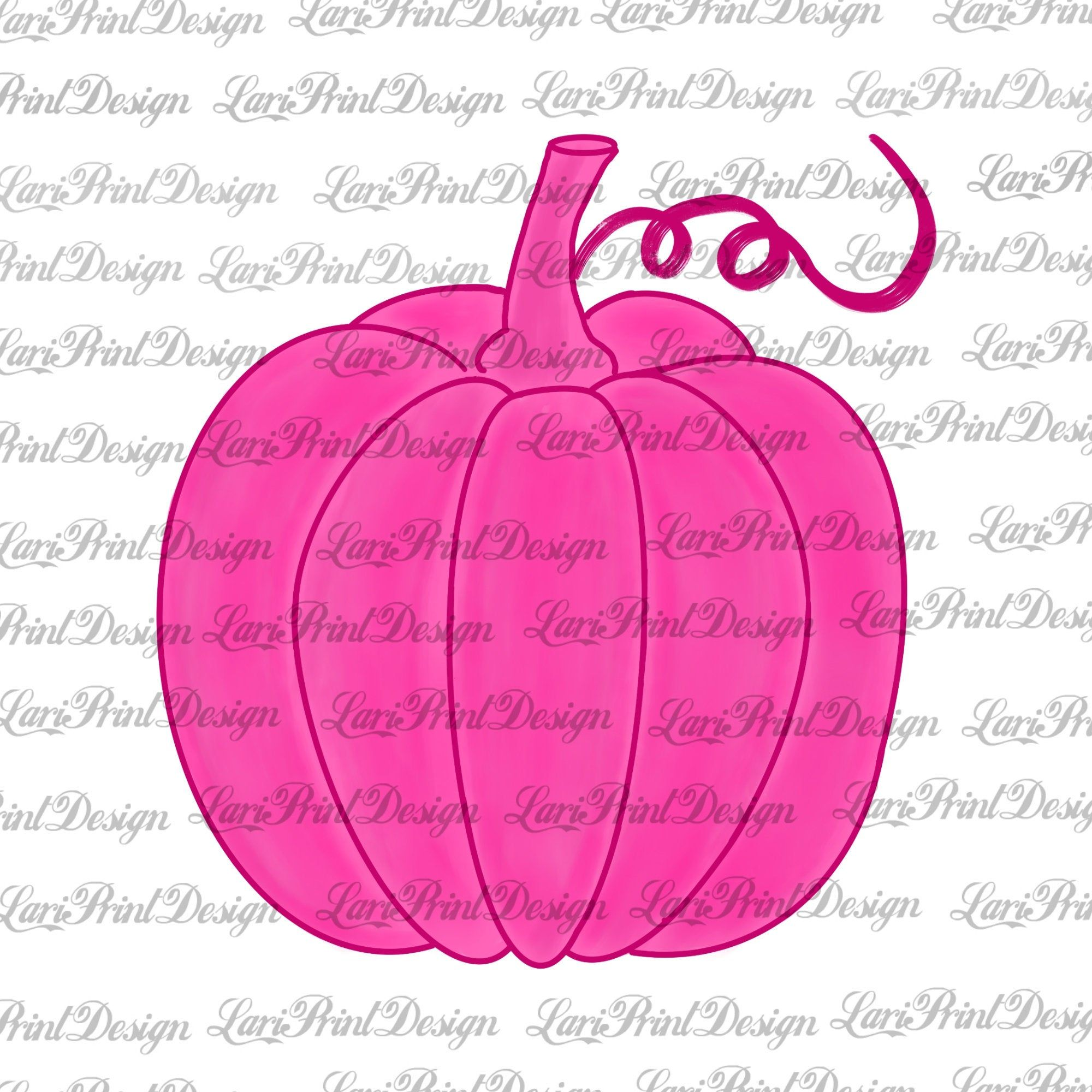 Watercolor Pink Pumpkin PNG, pink pumpkin clipart, sublimation graphics, instant download