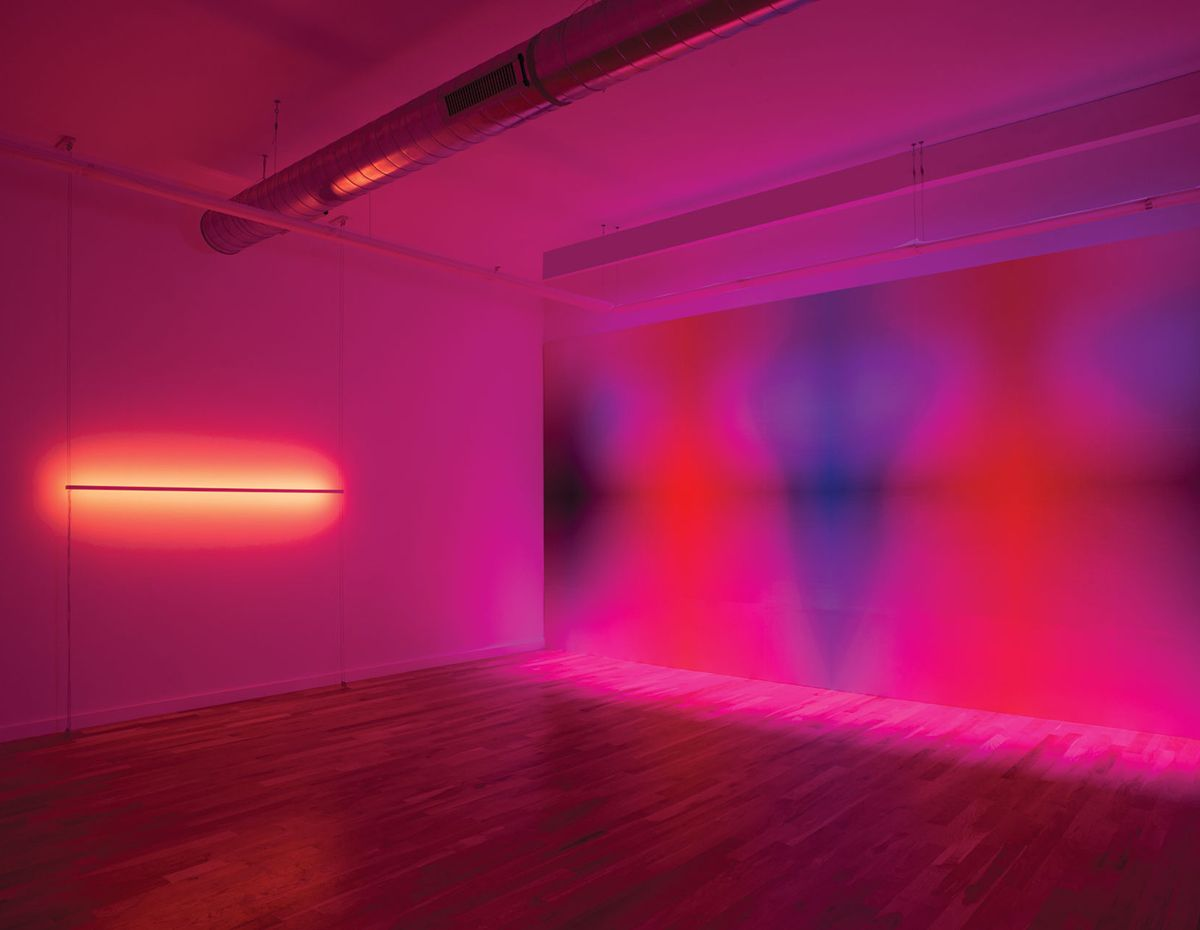 An Immersive Interplay Of Light And Color At Volume Gallery In Chicago Sight Unseen Neon Light Art Chicago Sights Light Art