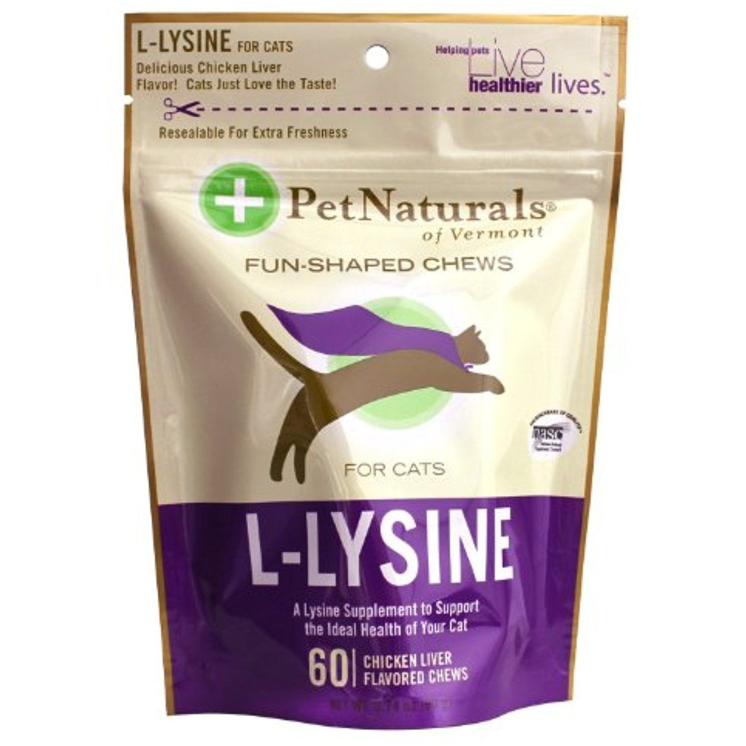 Pet Naturals of Vermont LLysine 60 FunShaped Chews for