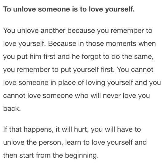 How to unlove him