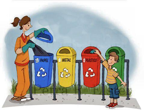 Educar Es Aprender Juntos Reciclar Basura Dibujos Infantiles Dibujos