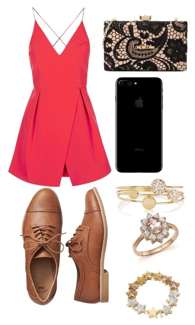 """PROM NIGHT WITH @swag_d13"" by kaldridge-1 on Polyvore featuring beauty, Topshop, Gap, Love Moschino, Bloomingdale's and Betsey Johnson"