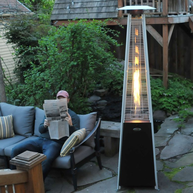 The Az Patio Heaters Hlds01 Gt 91 Quartz Glass Tube Patio Heater Is Made With Durable Stainless Steel Finish The Heate In 2020 Patio Heater Outdoor Heaters Patio