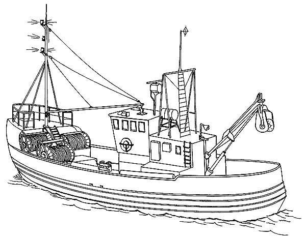 Fire Boat Coloring Pages Coloring Pages Boat Fishing Boats