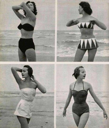 bikini e costumi interi anni 50