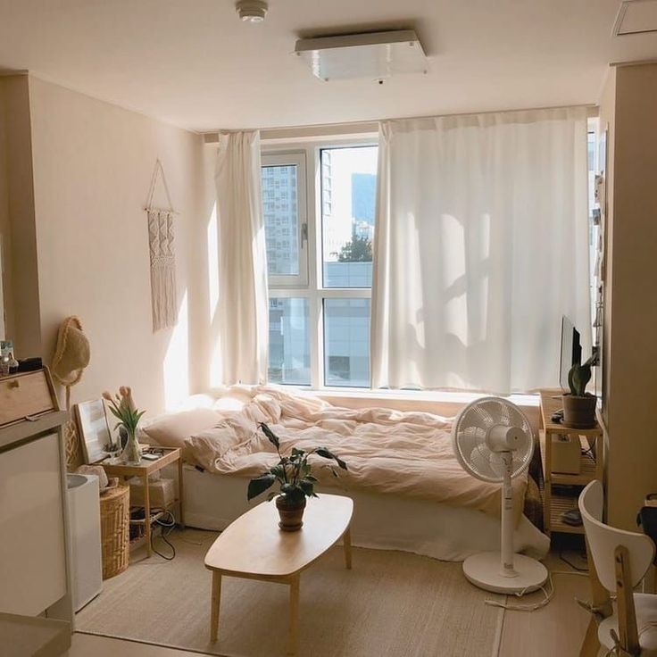 G E O R G I A N A Apartment Interior Minimalist Room Aesthetic Bedroom Korean style minimalist aesthetic room