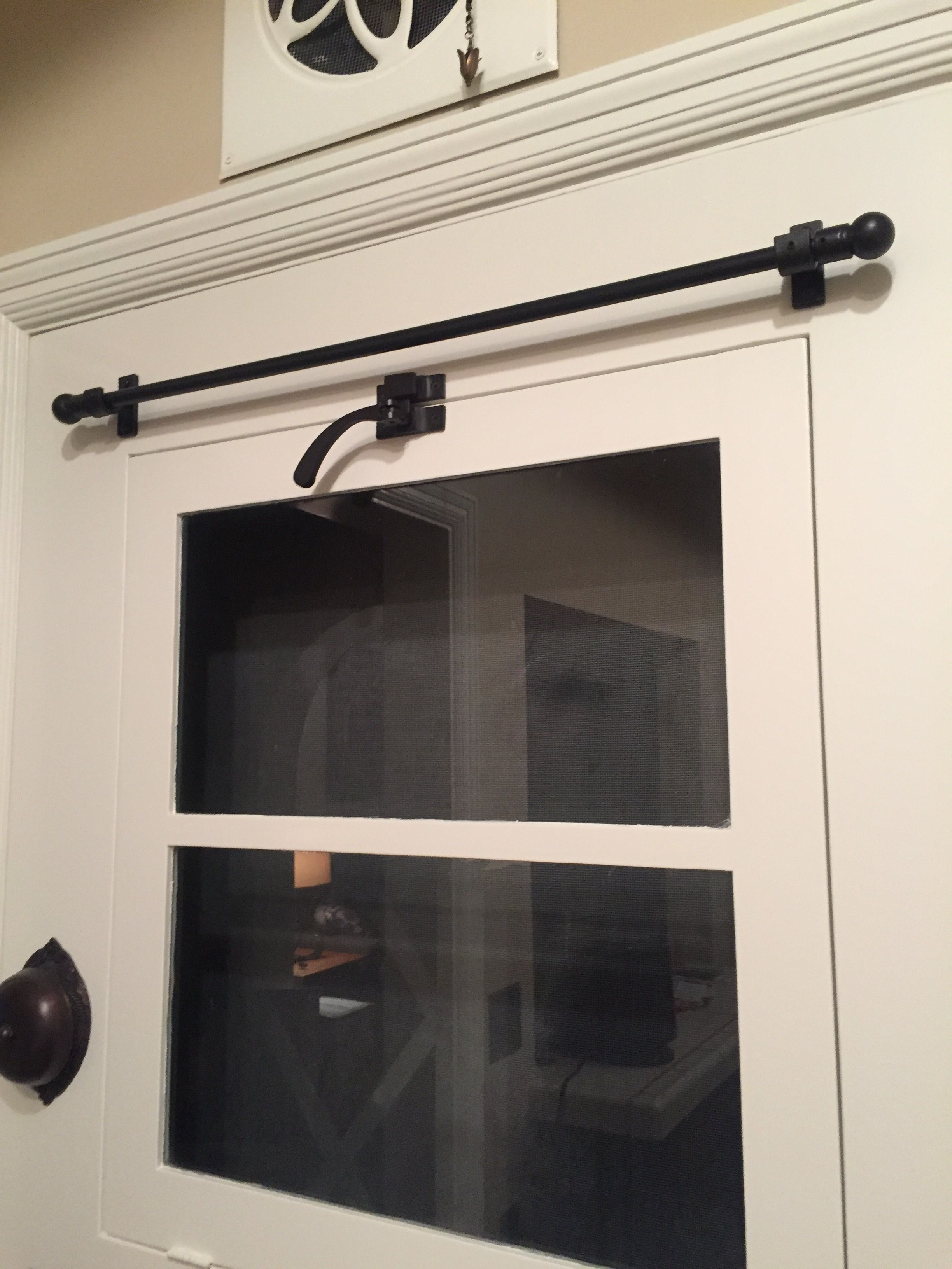 Privacy Iron Rod Cafe Rod With Finials Iron Drapery Rod With