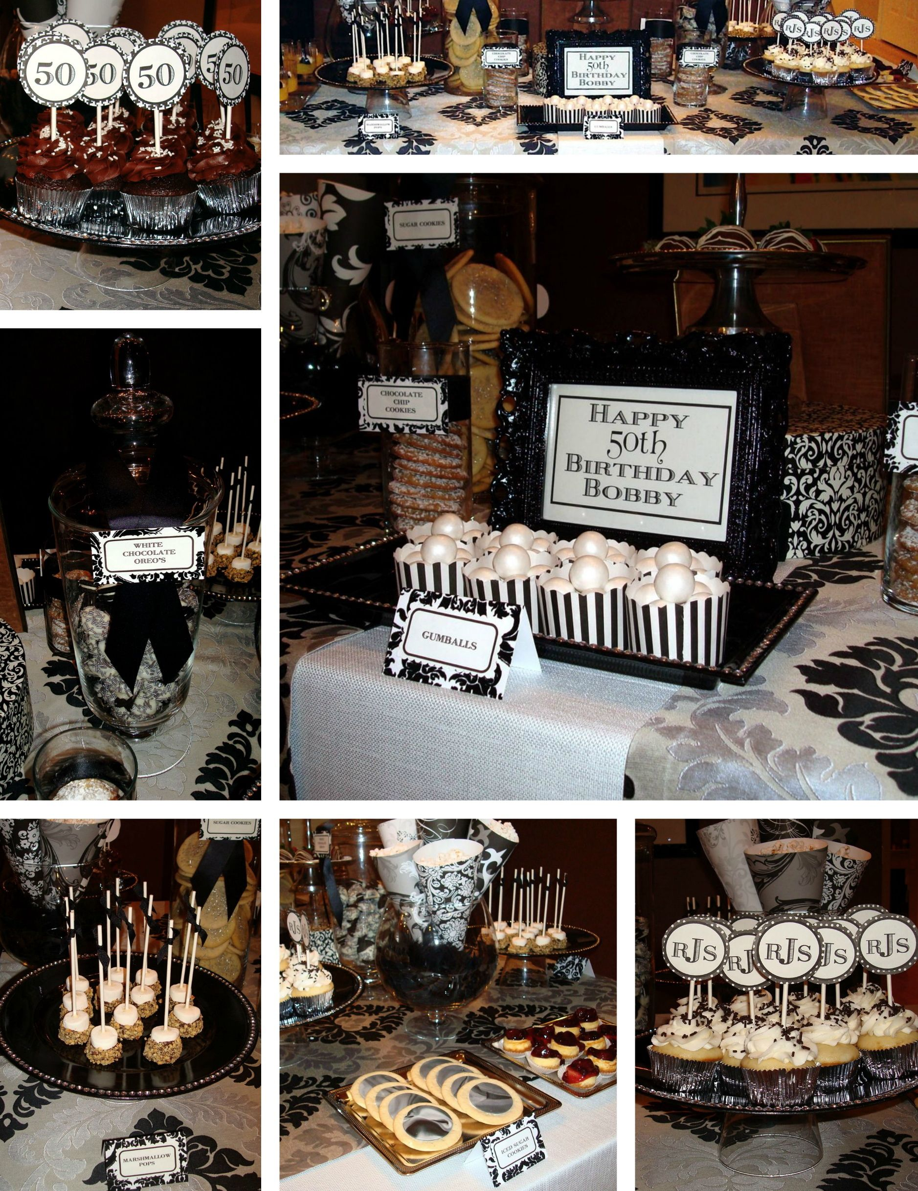 A Very Chic Guys 50th Birthday Party Hostest With The