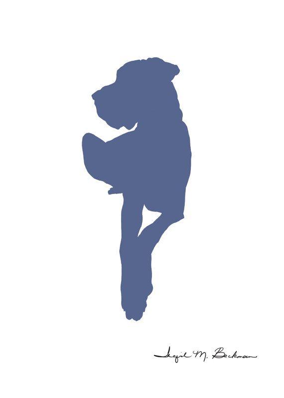 Great Dane Great Dane Drawing Dog Silhouette Dog Print Dog Art