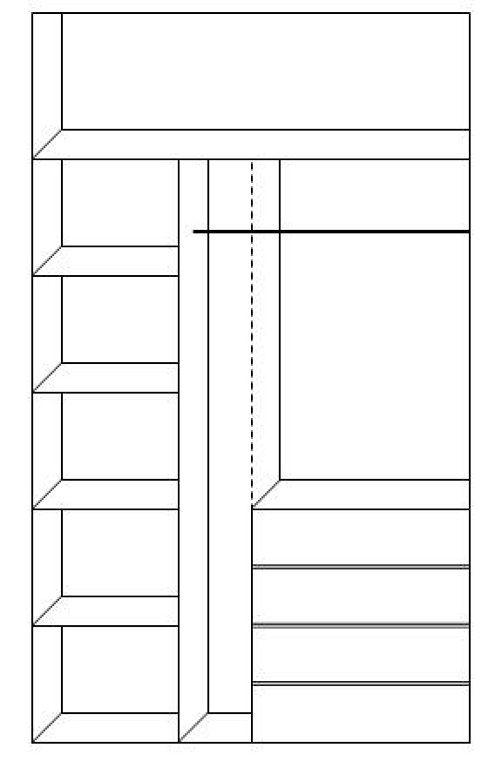 Organizaci n de armarios buscar con google armarios for Organizacion de armarios empotrados