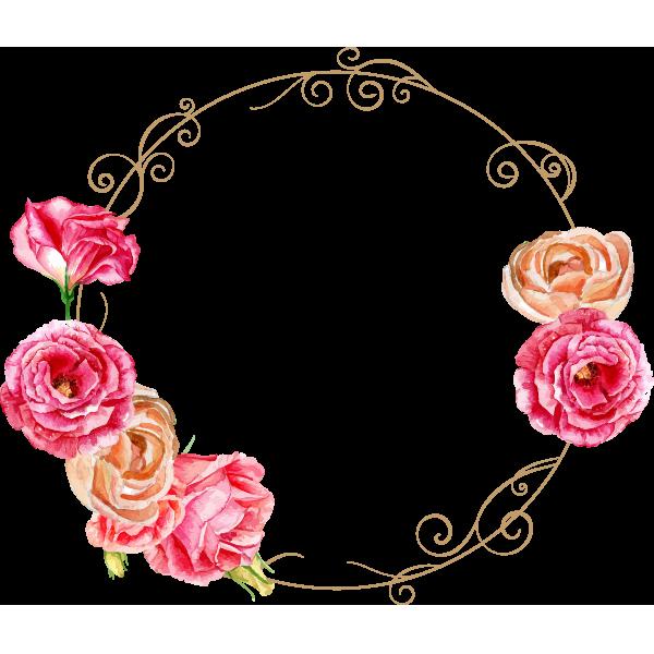 장미꽃 링 장미 꽃다발 꽃 Png 및 벡터 에 대한 무료 다운로드 Floral Wreaths Illustration Flower Frame Flower Bag