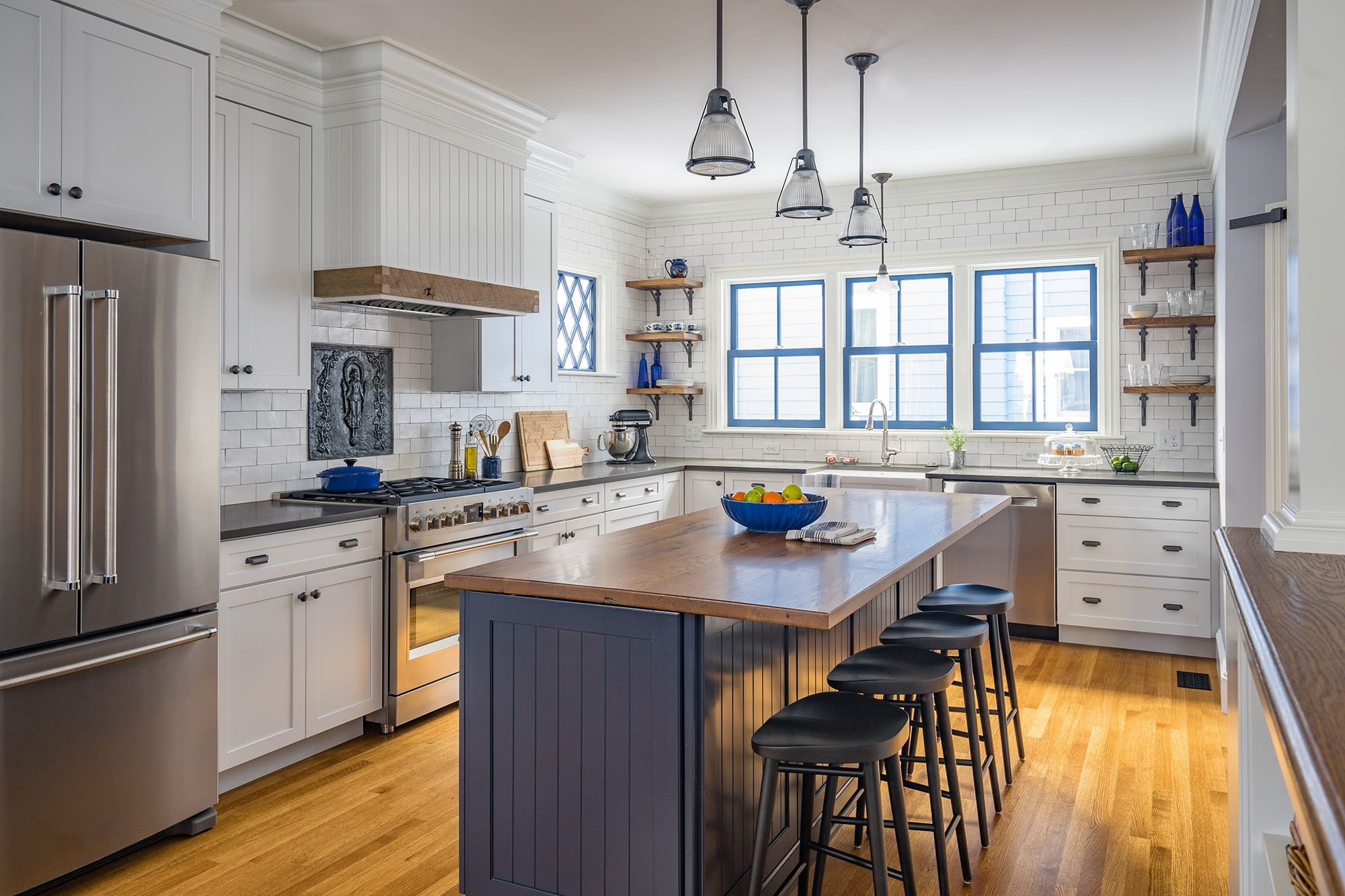 As Seen On This Old House Season 39 Newton Gennext House Kitchen Features Reclaimed Wood Topped Kitchen Remodel Small Kitchen Inspirations Trendy Kitchen