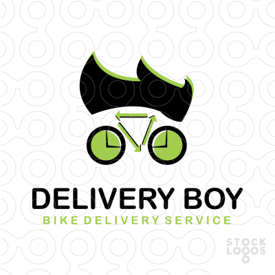 Delivery Boy Bicycle Logo Design Idea Bike Bicycle Cycle