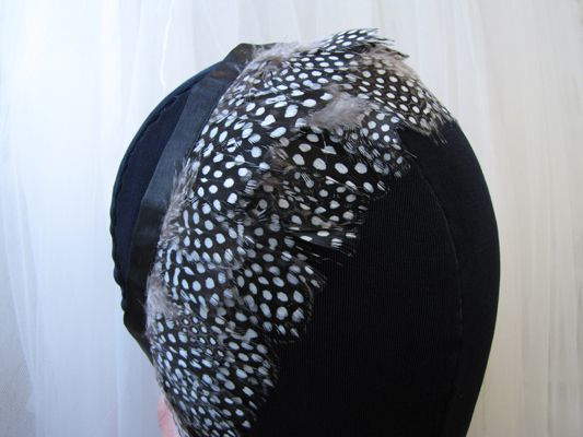 Black and white feather trim - $9.95 per yard