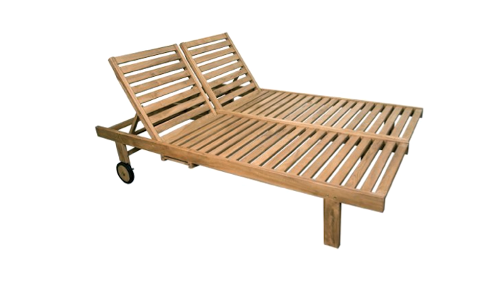 Balero Teak Wood Double Chaise Lounge Cape Lane Outdoor
