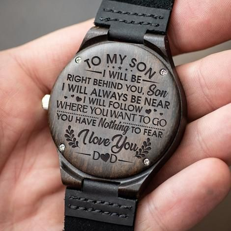 Engraved Wooden Watch For Son | Family Gift Love