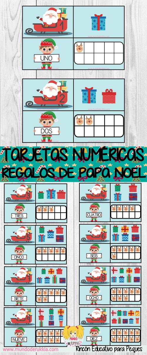 Tarjetas Numericas Regalos De Papa Noel Actividades De Navidad