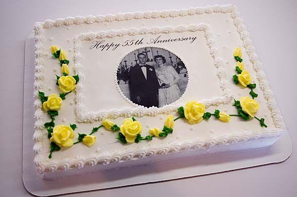 50th Anniversary Sheet Cake Ideas Anniversary Cake Decorating