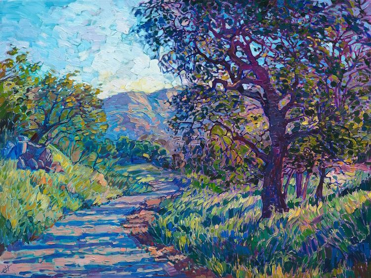 Colorful Open Impressionism Paintings Capture Beautiful Landscapes Of Wine Country Landscape Paintings Impressionism Painting Oil Painting Landscape