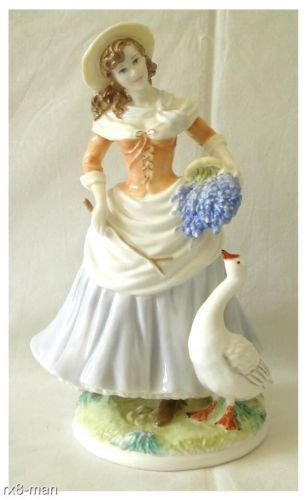 VINTAGE ROYAL WORCESTER GOOSE GIRL FIGURINE