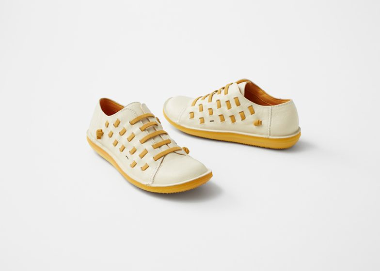 Camper collaborates with Nendo to create stretchable Beetle shoe