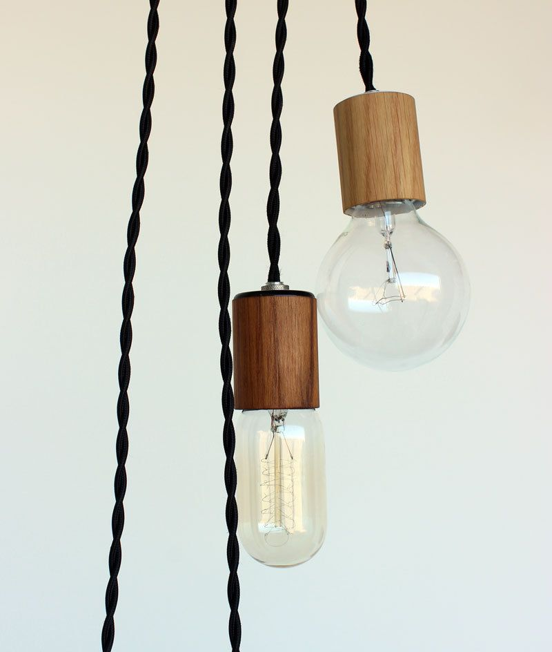 Wood veneered pendant light with 12 cord plug and switch 4500 wood veneered pendant light with 12 cord plug and switch 4500 via etsy aloadofball Image collections