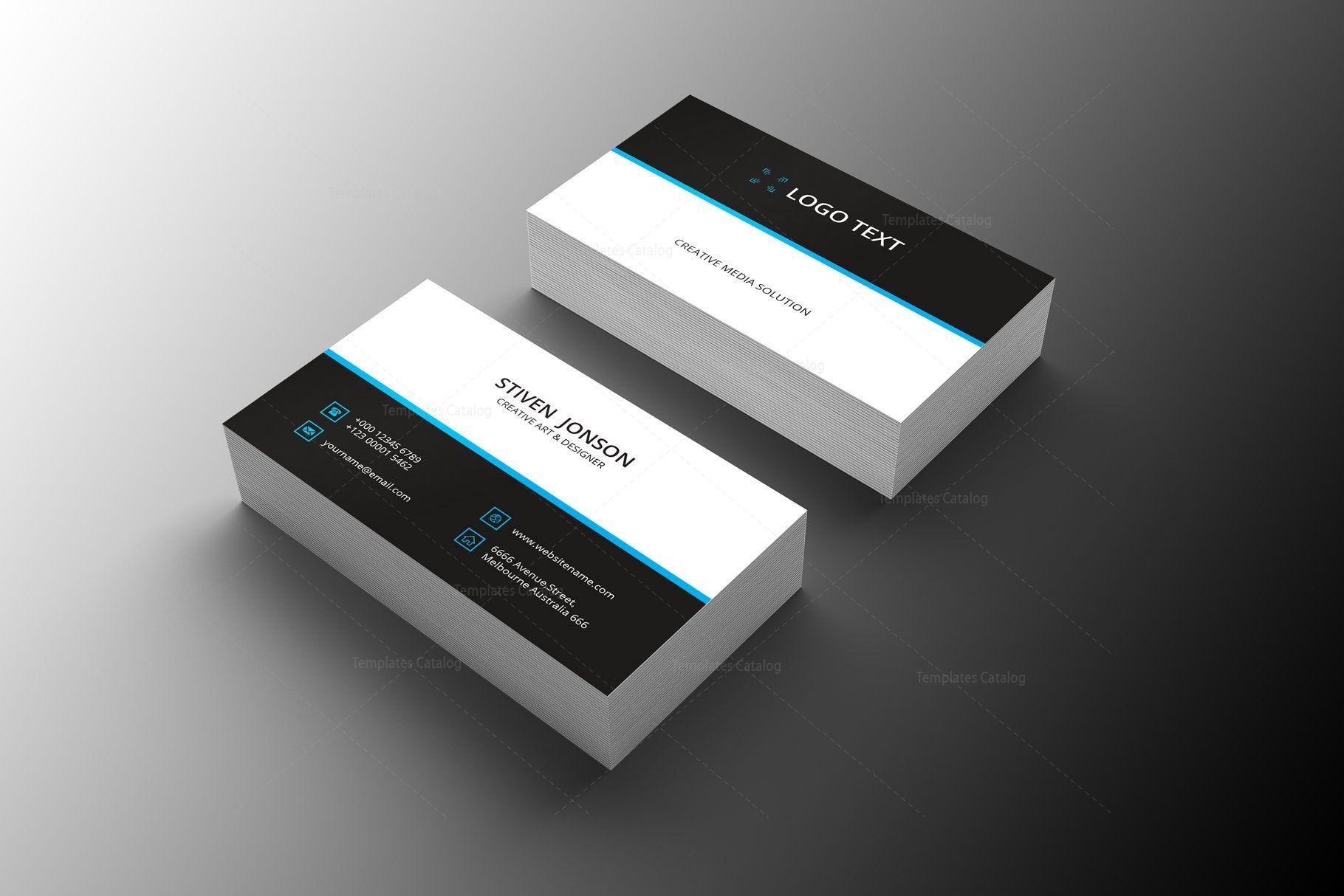 Distributor Professional Business Card Design Graphic Templates Professional Business Card Design Business Card Fonts Business Card Design