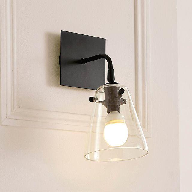 applique m tal et verre kiyo la redoute interieurs salle de bain luminaire applique murale. Black Bedroom Furniture Sets. Home Design Ideas
