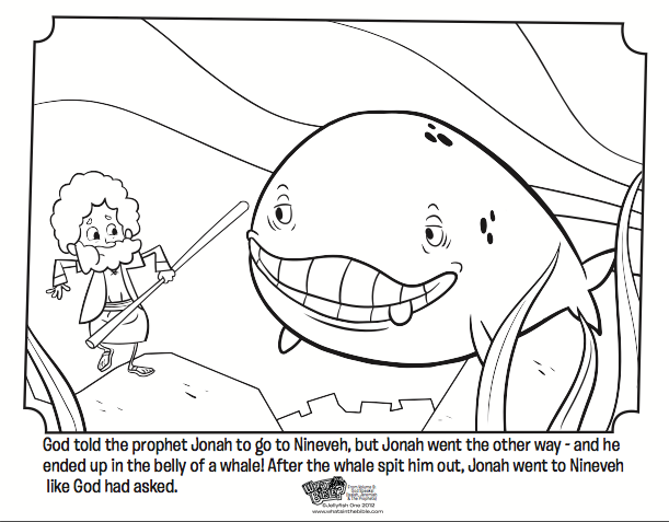 Kids Coloring Page From Whats In The Bible Featuring Jonah And Whale Volume