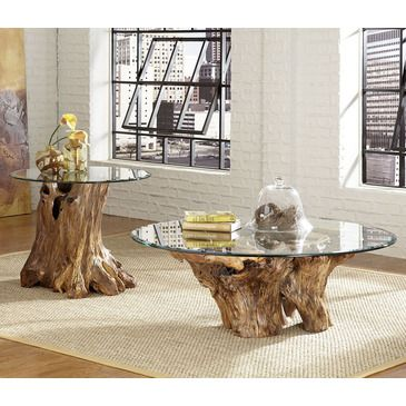 Hammary Hidden Treasures 2 Piece Root Ball Coffee Table Set   BEYOND Stores