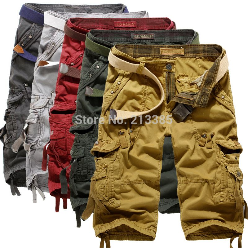 UUYUK Men Multi Pockets Casual Cotton Washed Military Relaxed Fit Cargo Jogger Pants