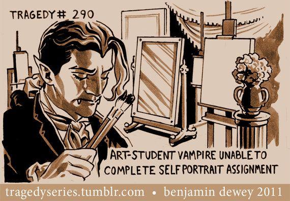 Tragedy 290 Vampire Print by BenjaminDewey on Etsy, $15.00