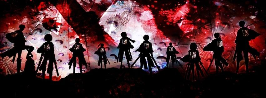 Anime Attack On Titan Shingeki No Kyojin Survey Corps Facebook Cover Anime Cover Photo Attack On Titan Facebook Cover Images