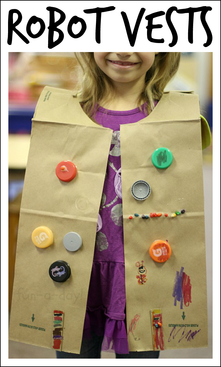 Easy Robot Craft Made From Recycled Materials Toddler