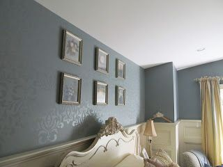 Ralph Lauren Candlelight Paint Finish Stenciled On A Wall