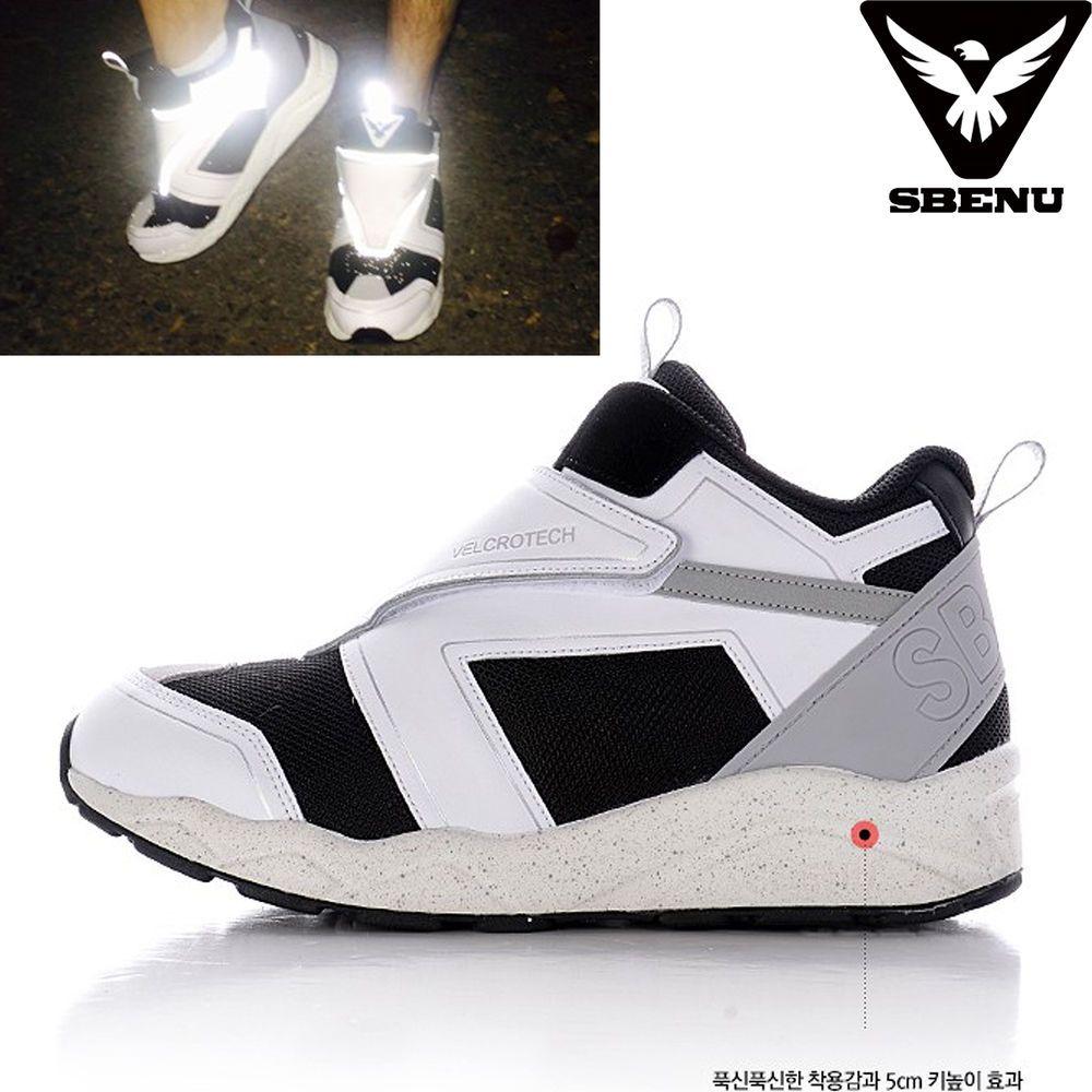 (SBENU) B(VT)-003 WH VELCRO TECH Men Women Sneaker Running Elevator Shoes AOA IU #SBENUhellobincom #RunningFashionSneakerShoes