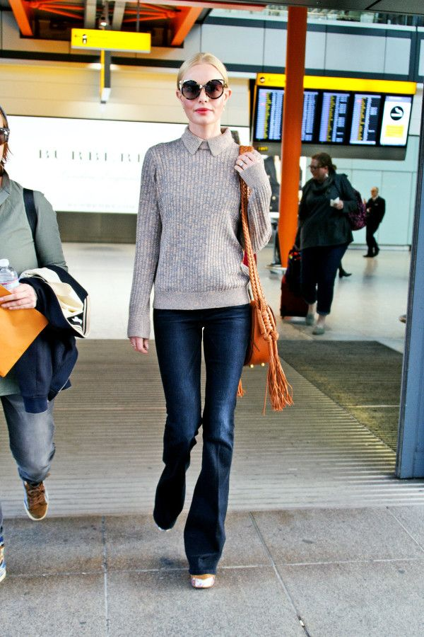 Kate Bosworth - Skip your basic crewneck sweatshirt and opt for an equally cozy collared knit to lend polished, preppy vibes to a casual look. Pair with dark-wash denim to maintain an elevated yet off-duty vibe.