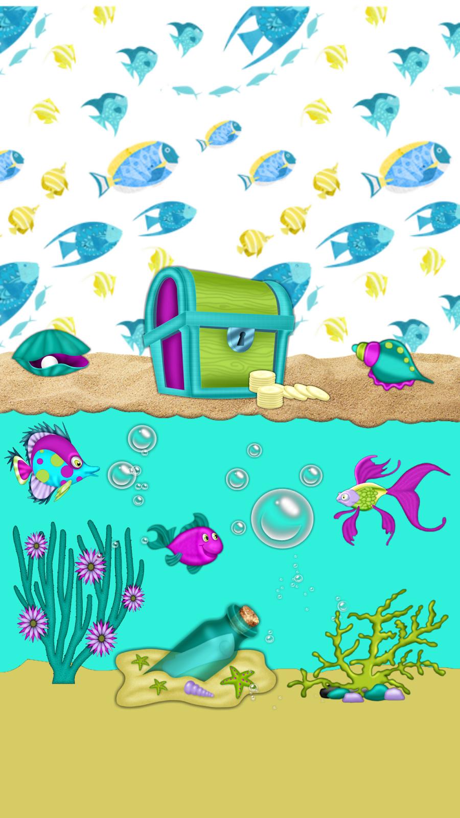Dazzle my Droid: FREEBIE♡ Under Da Sea wallpaper collection