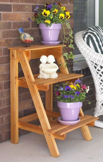 Diy plant stand ideas for dramatic look at home diy for Herb stand ideas