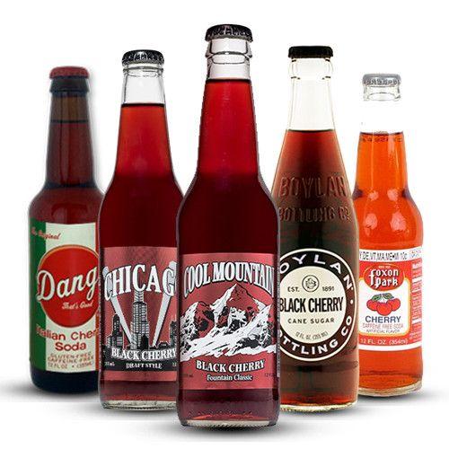 Ultimate Cherry Soda Sampler 12 Oz 12 Bottles Italian Cherries Soda Fizzy Drink