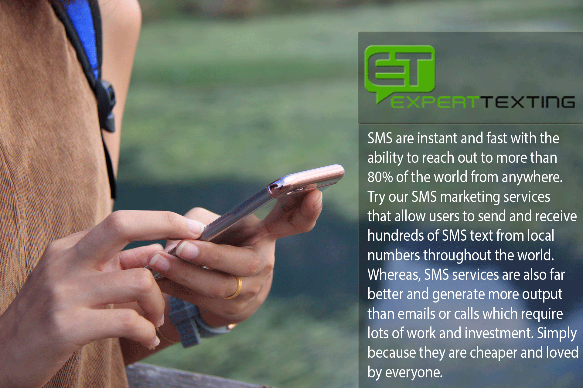 Use SMS marketing services to boost your sales SMS are