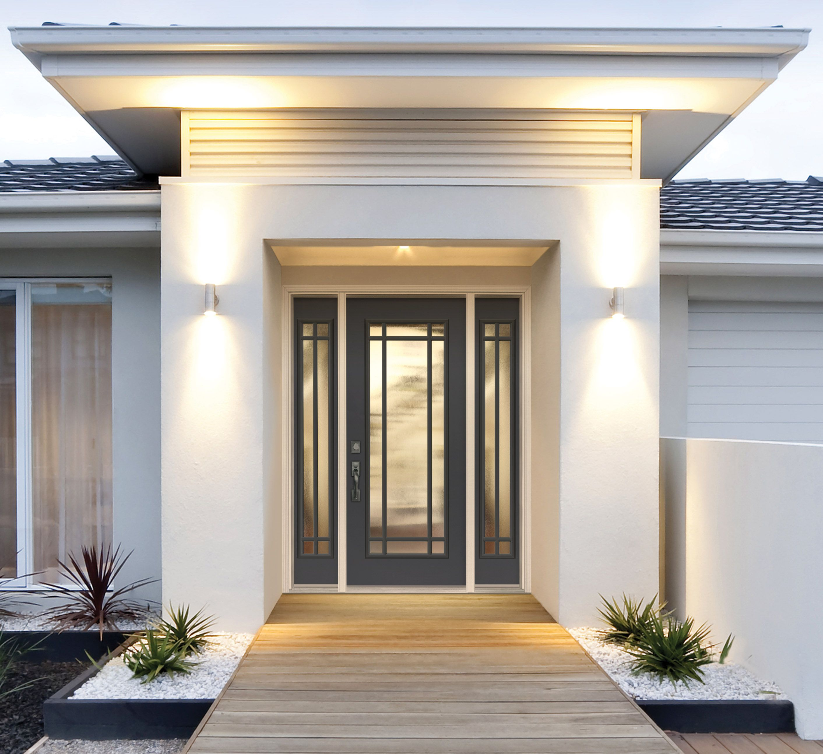 The Clean Lines Of The Belleville Smooth Door With Applied 9 Lite